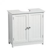 Woodluv Under Sink Bathroom Storage Cabinet - White