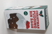 Christmas Pudding Design Bin Bags Roll Of 10 60 Litre Capacity