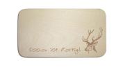 "Breakfast Board with German Text ""Deer Head - 01 people Includes Engraving plaque Waidmann Breakfast Breakfast Board with Hunting"