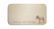 "Breakfast Board with German Text ""Donkey 02 People-Includes Engraving plaque Board Breakfast Tray, Donkey"