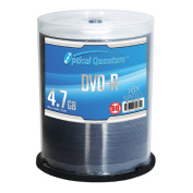 Optical Quantum OQBQDMR16ST 100 Pack 16x 4.7GB DVD-R Blank Media Silver Top