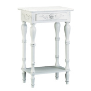 Eastwind Gifts 34353 Distressed White Wood Telephone Table