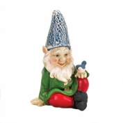 Eastwind Gifts 10016215 Cheery Gnome Solar Garden Statue