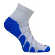 Sox SS 4011 Sport Plantar Fasciitis Arch Support Ped Compression Socks White-Royal - Medium