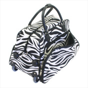 All-Seasons 8136122021T 50cm . Vacation Deluxe Carry-On Rolling Duffel Bag Zebra