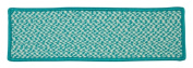 Outdoor Houndstooth Tweed - Turquoise Stair Tread