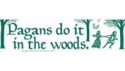 AzureGreen EBPAGD Pagans Do It In The Woods Bumper Sticker