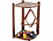 CueStix FR10 CHOCOLATE Floor Rack - 10 Cue CHOCOLATE