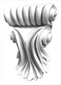 American Pro Decor 5APD10019 10cm x 14cm . Decorative Acanthus Corbel