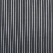 Designer Fabrics B609 140cm . Wide Navy Blue Striped Jacquard Woven Upholstery Fabric