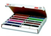 Prang 3.3 mm. Smooth Tip Non-Toxic Pre-Sharpened Coloured Pencil Master Pack - 7 L in. - Pack 288