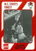 Alvin Battle Basketball Card (N.C. North Carolina State) 1989 Collegiate Collection No.17