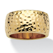 PalmBeach Jewellery 497197 14k Gold-Plated Hammered-Style Band Size 7