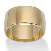 PalmBeach Jewellery 443269 Wedding Band in 18k Gold over Sterling Silver Size 9