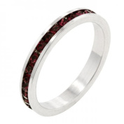 Icon Bijoux R01147R-V10-08 . Stackables With Garnet Crystal Ring (Size