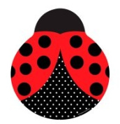 Creative Converting 425019 Ladybug Fancy - 23cm . Dinner Plates Shaped Ladybug - Case of 96
