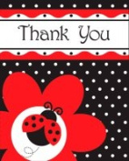 Creative Converting 899019 Ladybug Fancy - Thank You - Case of 48