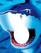 Creative Converting 090887 Shark Splash - Photo Op Banner - Case of 6