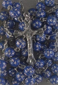 Blue rosary beads. Rosary necklace. Rosary pendant. Rosary to wear.