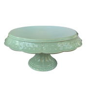 Bombay Duck 25 x 25 x 14 cm Ceramic Isabelle Single Cake Stand, Mint