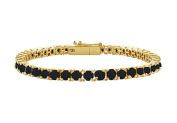 Fine Jewellery Vault UBBR14YRD131500BD Black Diamond Tennis Bracelet with 5 CT Black Diamonds