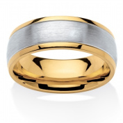 PalmBeach Jewellery 5540111 Mens Tailored Two-Tone Comfort Fit Band in Stainless Steel and Gold Ion-Plated 28cm .