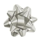 Deluxe Small Business Sales 256-0214-7 7cm . Splendorette Star Bows Silver