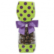 Deluxe Small Business Sales 65-DLN1-DOTPA 2 x 4.8cm x 24cm . Cello Bags Pistachio