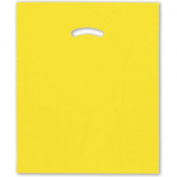 Deluxe Small Business Sales 248-1518-4 38cm x 46cm . and 10cm . BG Die-Cut Handle Bags Yellow