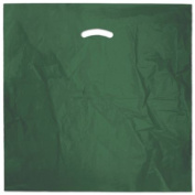 Deluxe Small Business Sales 248-2020-20 50cm x 50cm . and 13cm . BG Die-Cut Handle Bags Hunter Green
