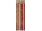 Bulk Buys CG464-120 Reds Decorative Fabric Borders Stickers