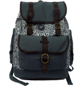 Harvest RT101 Grey Printed Canvas Computer Daypack fits 38cm . Laptop