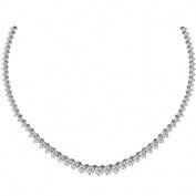 Luis Creations NRL1141k-10 10.06 Ct. Diamond Graduate Tennis Necklace In 14K White Gold