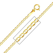 Precious Stars SEC0270220 Yellow Gold 1.5 mm. Mariner Chain 22 in. Necklace