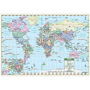 Universal Map 16186 World Primary Mounted Map