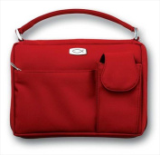 Zondervan Gifts 573535 Bible Cover Microfiber With Pockets & Handle Large Red