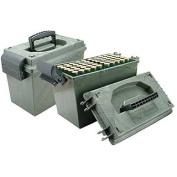 Bill Hicks & Co LTD MTM SD1001209 MTM 100RD SHOTSHELL BOX WITH TRAYS CAMO