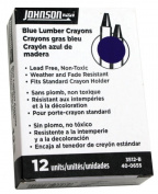 Johnson Level 3512-B Blue Lumber Crayon - 12 - Box
