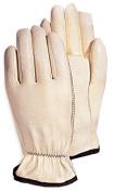 Magid Glove 6037TM White Premium Quality Goatskin Leather Driver Glove Medium