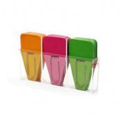 Clip-Rite Inc. CRT109 Solid Clip Tabs 24Pk Pink Green