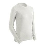 Basic Women Long Sleeve Crew T-shirt White - Medium