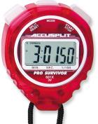 Accusplit A601XCH Pro Survivor Stopwatch with Cherry Case