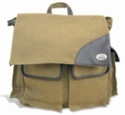 ZeppelinProducts NCS-BBX1-KHK NC State Travel Bag Waxed Canvas 15 x 16 x 8