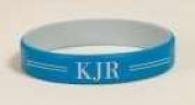 P. Graham Dunn 101231 Engravable Silicone Wrist Band - Blue & Grey