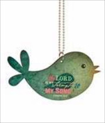 P. Graham Dunn 107854 Car Charm Bird The Lord Is My Strength With Chain 2.75 x 4