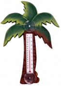 Songbird Essentials Palm Tree Small Window Thermometer