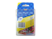 Coloured paper clips pack of 150 - Case of 48