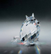 Asfour Crystal 692-50 1.49 L x 1.69 H in. Crystal Cat Animals Figurines
