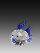 Asfour Crystal 951-40Blue 2.83 L x 1.65 H in. Crystal Fish Sea Figurines