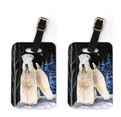 Carolines Treasures SS8364BT Pair of 2 Starry Night Wheaten Terrier Soft Coated Luggage Tags